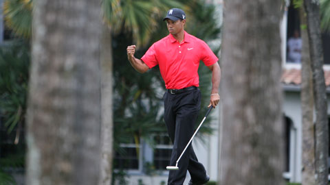 Tiger Woods 2nd in Honda Classic