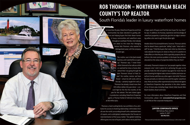 Northern Palm Beach County's Top Realtor -Article